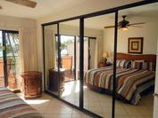 A107 - Master Bedroom - Sliding Glass Wall Storage